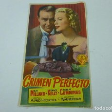 Flyers Publicitaires de films Anciens: CRIMEN PERFECTO-CON PUBLICIDAD - C 10. Lote 277442643