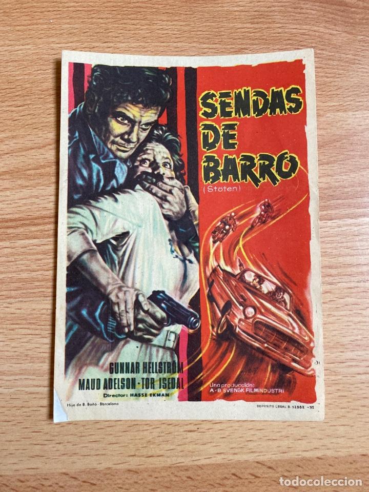 FOLLETO DE MANO ; SENDAS DE BARRO ; GUNNAR HELLISTRÖM (Cine - Folletos de Mano - Terror)