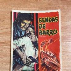 Cine: FOLLETO DE MANO ; SENDAS DE BARRO ; GUNNAR HELLISTRÖM. Lote 277493103