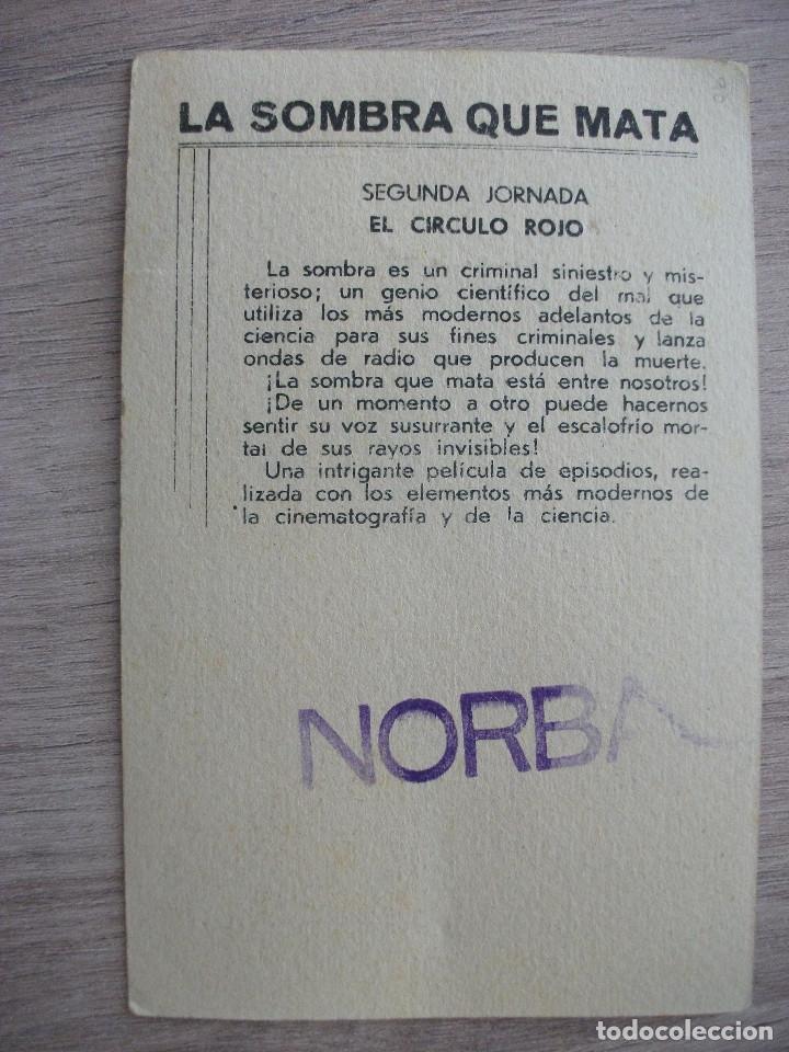 Cine: LA SOMBRA QUE MATA, 2ª JORNADA EL CIRCULO ROJO, BELA LUGOSI - Foto 2 - 277503343