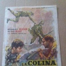 Cine: LA COLINA DE LOS DIABLOS DE ACERO CON PUBLICIDAD MODERNO MATARO. Lote 277526648