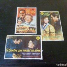 Flyers Publicitaires de films Anciens: 3 PROGRAMAS DE CINE IMPRESOS EN LA PARTE TRASERA. MIRAR FOTOS. Lote 277632143