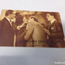Cine: FOLLETO DE MANO LOS CINCO CHICOS DEL JAZZ, POR JENNY. Lote 277636543