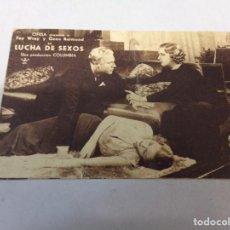 Cine: FOLLETO DE MANO LUCHA DE SEXOS, FAY WRAY, CIFESA, COLUMBIA PICTURES. Lote 277642548