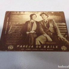 Cine: FOLLETO DE MANO PAREJA DE BAILE FOX , JAMES DUNN. Lote 277643868