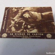 Cine: FOLLETO DE MANO LA CIUDAD DE CARTON FOX, CATALINA BARCENA. Lote 277644273