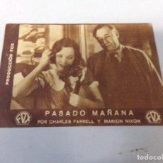 Cine: FOLLETO DE MANO PASADO MAÑANA FOX, CHARLES FARRELL 1933. Lote 277644933
