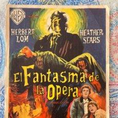 Cine: PROGRAMA EL FANTASMA DE LA OPERA - HAMMER FILMS - CON PUBLICIDAD. Lote 277709938