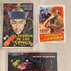 Cine: LOTE 3 PROGRAMAS HAMMER FILMS - 2 CON PUBLICIDAD Y 1 SIN PUBLICIDAD. Lote 277710878