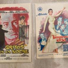 Cine: LOTE 2 PROGRAMAS ANTIGUAS PELICULAS JESUS / JESS FRANCO - CON PUBLICIDAD. Lote 277711728