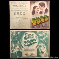 Cine: PROGRAMA DE MANO DE LA PELICULA SUEZ (1938). Lote 277764808