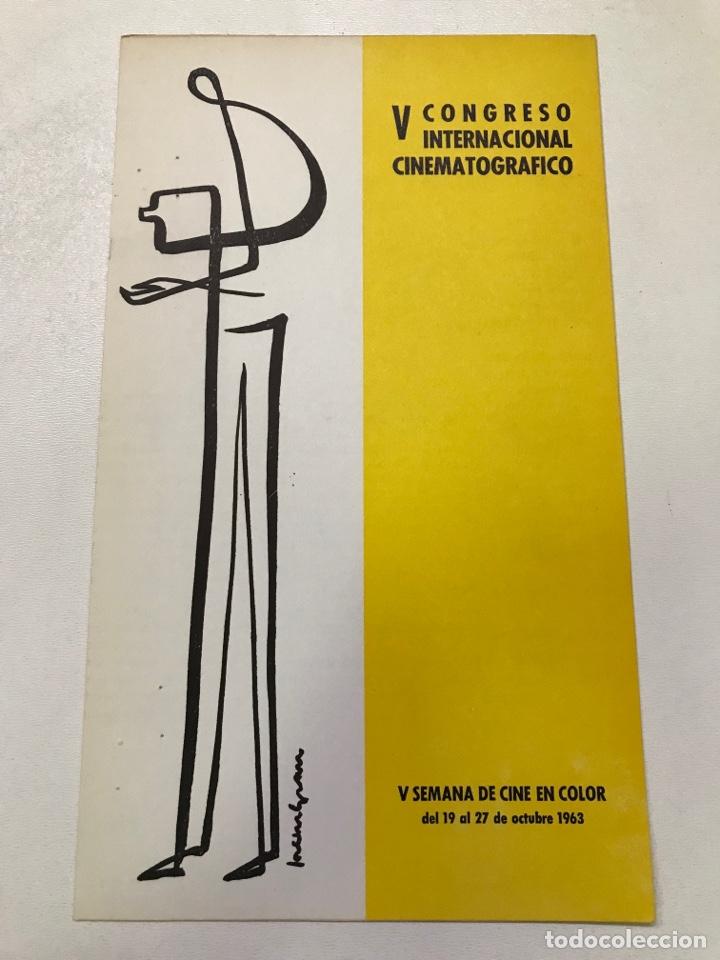 V CONGRESO INTERNACIONAL CINEMATOGRÁFICO-THE NUTTY PROFESSOR REF J (Cine - Folletos de Mano - Ciencia Ficción)
