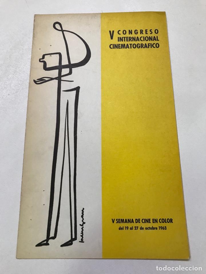 V CONGRESO INTERNACIONAL CINEMATOGRÁFICO-LOS TARANTOS REF J (Cine - Folletos de Mano - Ciencia Ficción)