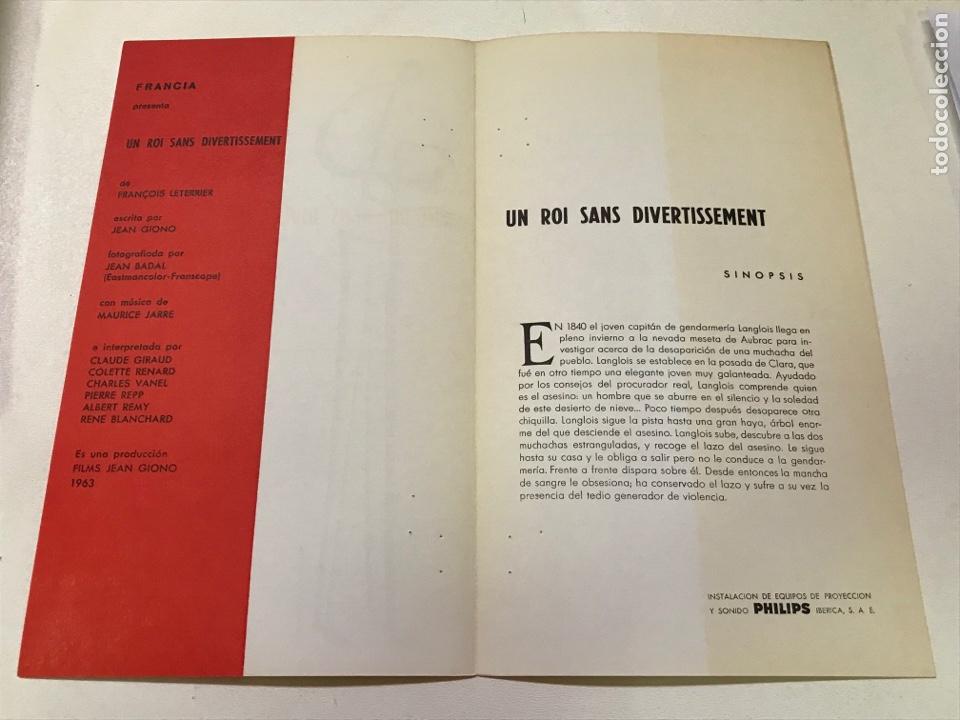 Cine: V Congreso internacional cinematográfico-Un roi sans divertissement Ref J - Foto 2 - 277854183