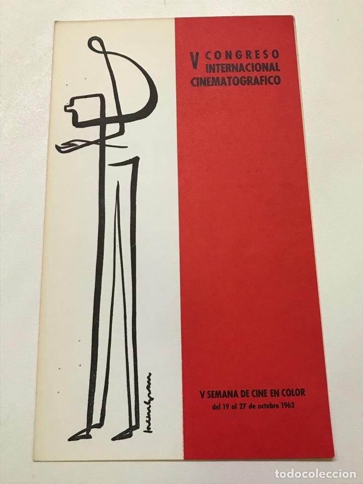 V CONGRESO INTERNACIONAL CINEMATOGRÁFICO-UN ROI SANS DIVERTISSEMENT REF J (Cine - Folletos de Mano - Ciencia Ficción)
