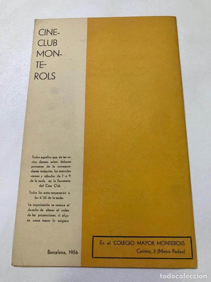 Cine: Clvub Monterols 1956 ciclo antológico del cine 27x21cm Ref J - Foto 3 - 278199078