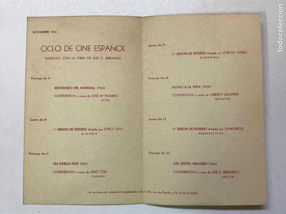 Cine: Clvub Monterols 1956 Primer ciclo de cine Español 26x21cm Ref J - Foto 2 - 278200773