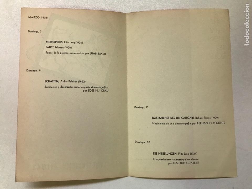 Cine: Clvub Monterols 1958 El expresionismo alemán 27x21cm Ref J - Foto 2 - 278201123