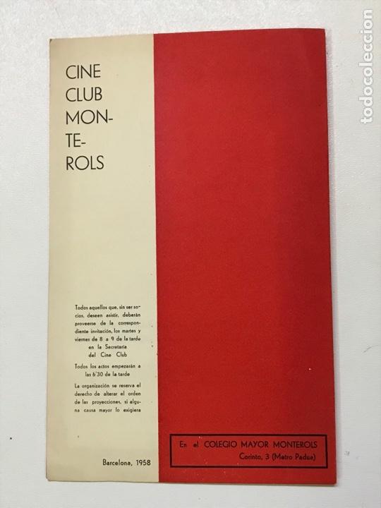 Cine: Clvub Monterols 1958 El expresionismo alemán 27x21cm Ref J - Foto 3 - 278201123