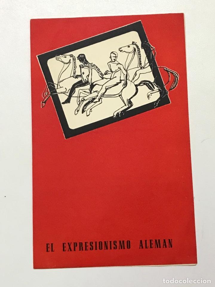 CLVUB MONTEROLS 1958 EL EXPRESIONISMO ALEMÁN 27X21CM REF J (Cine - Folletos de Mano - Bélicas)