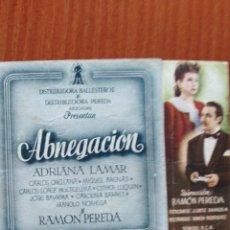 Cine: ABNEGACION (CON PUBLICIDAD). Lote 278216038