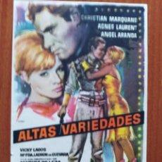 Cine: ALTAS VARIEDADES. Lote 278216873