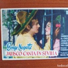 Cine: JALISCO CANTA EN SEVILLA. Lote 278217013