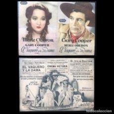 Cine: EL VAQUERO Y LA DAMA (1938). Lote 278347693