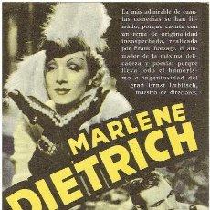 Cine: DESEO DOBLE DE GARY COOPER Y MARLENE DIETRICH - CON CINE. Lote 278397823