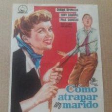 Cine: COMO ATRAPAR UN MARIDO CON PUBLICIDAD CINES MONTECARLO,NIZA Y ARISTOS. Lote 278411483