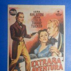 Cine: FOLLETO DE MANO - PELÍCULA FILM - LARGOMETRAJE - EXTRAÑA AVENTURA. Lote 278419533