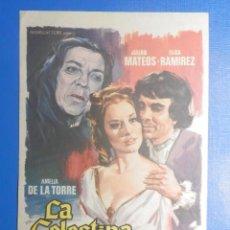 Cine: FOLLETO DE MANO - PELÍCULA FILM - LARGOMETRAJE - LA CELESTINA. Lote 278421243