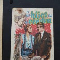 Cine: FOLLETO DE MANO LOS HIJOS NO SE VENDEN , LEA PADINI , 1954. Lote 278426913