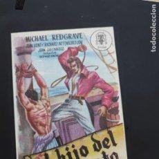 Cine: FOLLETO DE MANO EL HIJO DE PIRATA , MICHAEL REDGRAVE , 1950. Lote 278427098