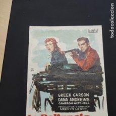 Cine: FOLLETO DE MANO LA PELIRROJA INDOMITA , GREER GARSON ,. Lote 278427288