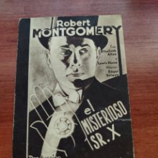 Cine: FOLLETO DE MANO EL MISTERIOSO SR. X, ROBERT MONTGOMERY. Lote 278434238