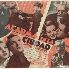 Cine: ALARMA EN LA CIUDAD - DOBLE CON BORIS KARLOFF - SIN PUBLICIDAD. Lote 278478918
