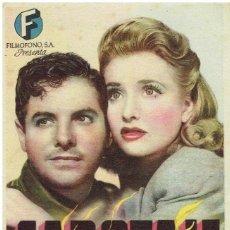 Cine: SABOTAJE DE HITCHCOCK -SENCILLO CON PUBLICIDAD. Lote 278484858
