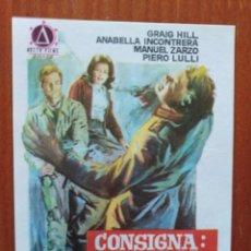 Cine: CONSIGNA MATAR AL COMANDANTE JEFE. Lote 278490048