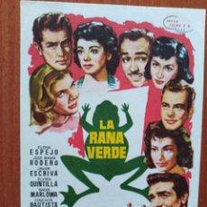 Cine: LA RANA VERDE. Lote 278490228