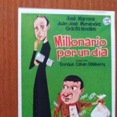 Cine: MILLONARIO POR UN DIA. Lote 278490783
