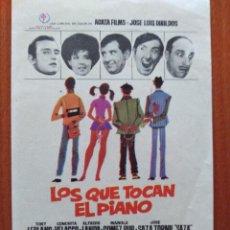 Cine: LOS QUE TOCAN EL PIANO. Lote 278491383