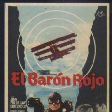 Cine: P-8532- EL BARÓN ROJO (VON RICHTHOFEN AND BROWN) JOHN PHILLIP LAW - DON STROUD - BARRY PRIMUS. Lote 278492538