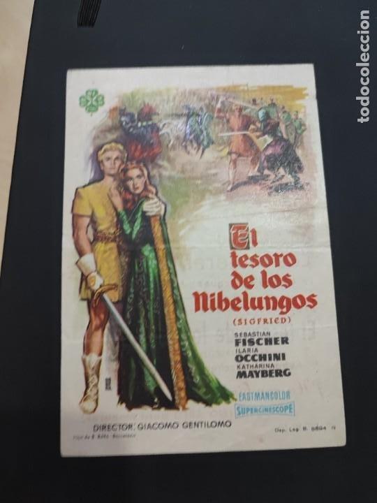 FOLLETO DE MANO EL TESORO DE LOS NIBELUNGOS , SEBASTIAN FISCHER , 1964 (Cine - Folletos de Mano - Drama)