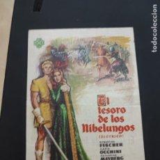 Cine: FOLLETO DE MANO EL TESORO DE LOS NIBELUNGOS , SEBASTIAN FISCHER , 1964. Lote 278543268