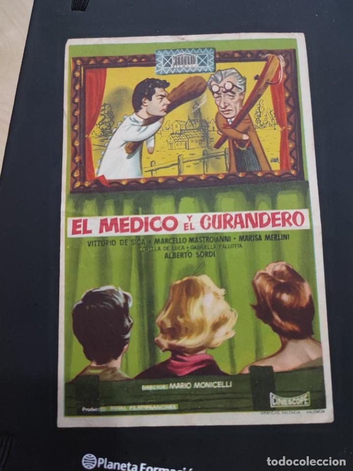 FOLLETO DE MANO EL MEDICO Y EL CURANDERO , VITTORIO DE SICA , (Cine - Folletos de Mano - Drama)