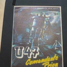 Cine: FOLLETO DE MANO U47 COMANDANTE PRIEN , DIETER EPPLER , 1960. Lote 278543353