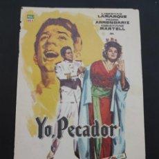 Cine: FOLLETO DE MANO YO PECADOR , PEDRO GERARLD ,. Lote 278543373