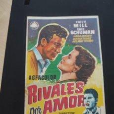 Cine: FOLLETO DE MANO RIVALES POR AMOR , EDITH MILL ,. Lote 278543378