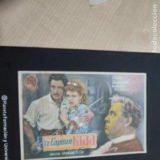 Cine: FOLLETO DE MANO EL CAPITAN KIDD , CHARLES LAUGHTON , 1946. Lote 278543418